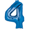 "35"" Decorator Number 4 Balloon - Blue P50"