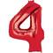 """35"""" Decorator Number 4 Balloon - Red P50"""