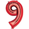 """35"""" Decorator Number 9 Balloon - Red P50"""