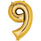 """35"""" Decorator Number 9 Balloon - Gold P50"""