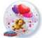 "22"" Single Bubble Teddy Bear's Floating Hearts"