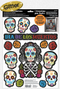 241526 Day of the Dead Window Decs. Glitter