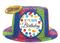 250447 Bright Birthday Sparkle Top Hat Glitter Plastic