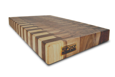 Top Chop Butcher Block - Walnut End Grain - diagonal view