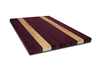"Purple Heart with Maple Blonde Streaks End Grain Butcher Block 3/4"" Thick"