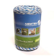 Nemtek Electric Fence Poly Wire 200M MIX3 [NMT004]