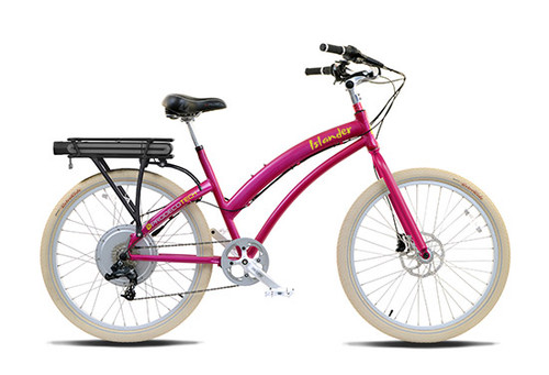 ProdecoTech Female Beach Cruiser Electric Bicycle