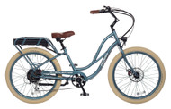 Pedego Step-Thru Interceptor - Mineral Blue with Creme Balloon Package Wheels