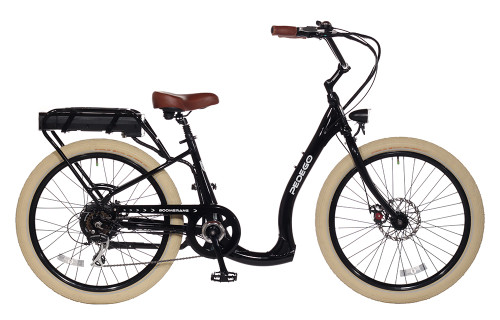 Pedego Boomerang Plus - Black with Creme Balloon Package Wheels
