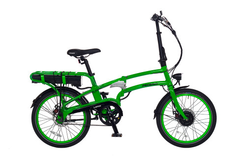 Pedego Latch Electric Folding Bicycle - Lime Green Frame