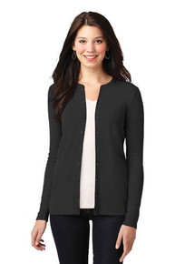 Port Authority Ladies Stretch Button-Front Cardigan