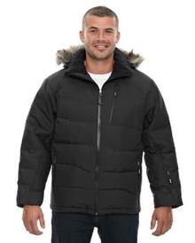 Ash City - North End Men's Boreal Down Jacket with Faux Fur Trim