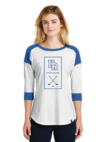 Ladies 3/4 Sleeve Baseball T-Shirt - HRHS Golf
