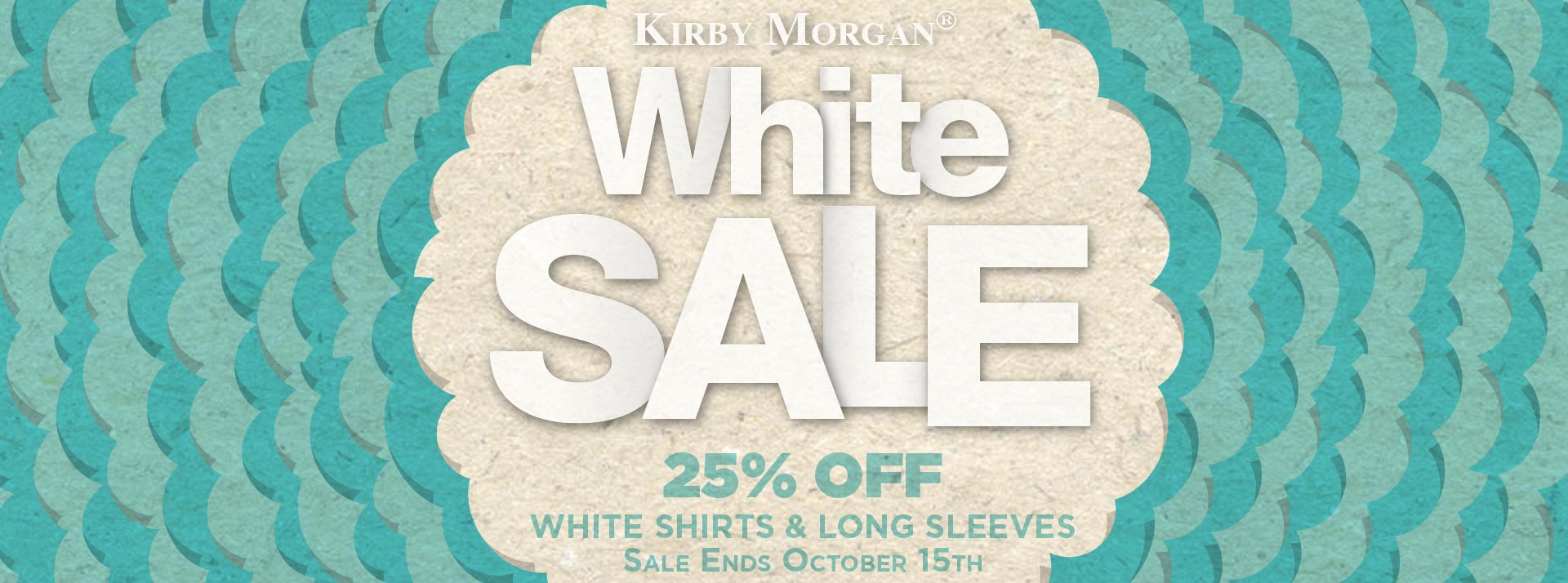 Kirby Morgan White Sale 25% Off White Shirts and Long Sleeves