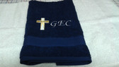Navy Blue Personalized Hand Towel