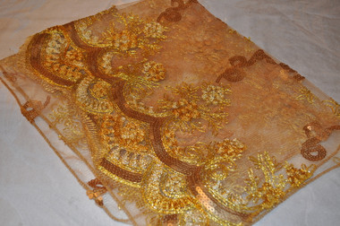 Deep Golden Beauty Scarf with Bling