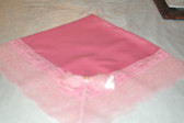 Baby Pink Lap Scraf with Pink Lace and Bow