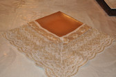 Gold Beauty Lap Scraf with Vienna Gold Vein Lace