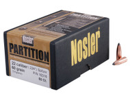 Nosler Partition Bullets 22 Caliber (224 Diameter) 60 Grain Spitzer