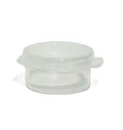 3 Gram Clear Round Hinged  Plastic Jar