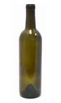 Antique Green Bordeaux Wine Bottle