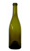 Antique Green Burgundy Wine Bottle #069 With Cork