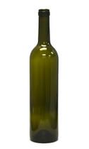 750ml Antique Green Bordeaux Wine Bottle #18 with Corks - Case of 12