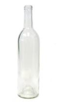 750ml Flint Clear Bordeaux Wine Bottle #133 with Corks - Case of 12