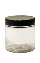 4oz (120ml) Clear Straight Sided PET Jar with Black Cap