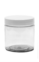 4oz (120ml) Clear Straight Sided PET Jar with White Cap