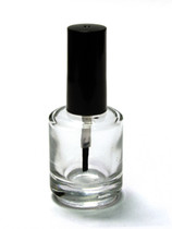 Nail Polish Bottle 1101C with Shiny Black Cap & Brush