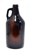 64 Oz. Amber Beer Growler Bottle (Case of 6)