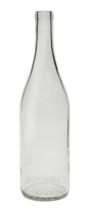 750ml Flint / Clear Burgundy Wine Bottle #1861F With Cork - Case of 12