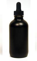 120ML (4oz) Black Glass Boston Round with Regular Dropper