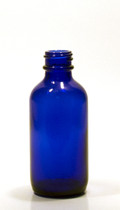 60ml (2 oz) Blue Boston Round Bottle
