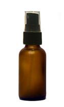 30ML (1oz) Frosted Amber Boston Round Bottles with Black Fine Mist Sprayer