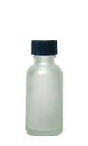 30ML (1oz) Frosted Clear Boston Round Bottles with Polycone Caps