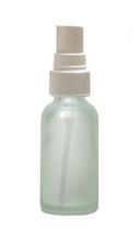 30ML (1oz) Frosted Clear Boston Round Bottles with White Fine Mist Sprayer