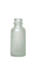 64 Pack of 30ML (1oz) Frosted Clear Boston Round Bottle - 10% OFF
