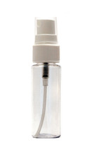 30ML Clear High Shoulder PET Plastic Bottle with White Sprayer