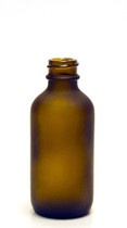 60ML (2oz) Frosted Amber Boston Round Bottles