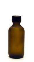 60ML (2oz) Frosted Amber Boston Round Bottles w/ Polycone Cap