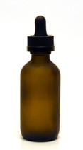 60ML (2oz) Frosted Amber Boston Round Bottles w Child Resistant Dropper