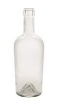 750ml Clear Bordeaux Port Wine Bottle with Corks
