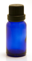15ML Blue Essential Oil Bottle with Heavy Duty Tamper Evident Cap & Orifice Reducer