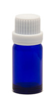10ML Blue Essential Oil Bottle with White Heavy Duty Tamper Evident Cap & Orifice Reducer