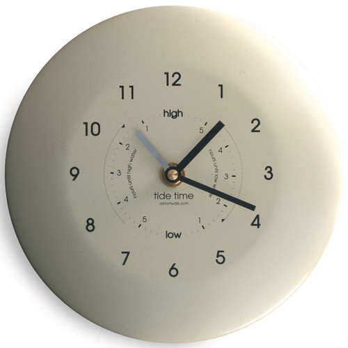 Time and Tide clock - cream