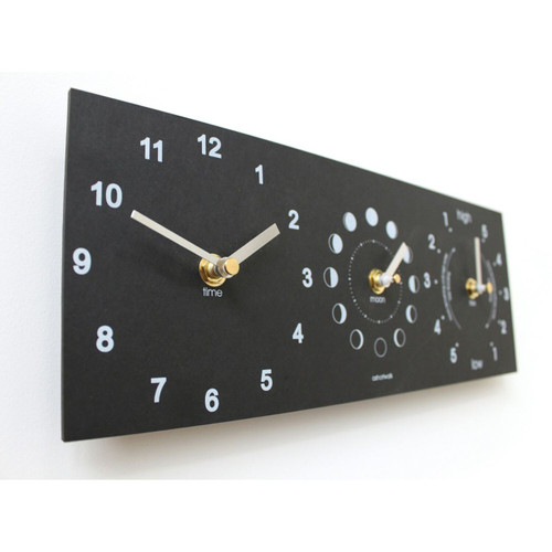 Moon, Tide and Time clock recycled