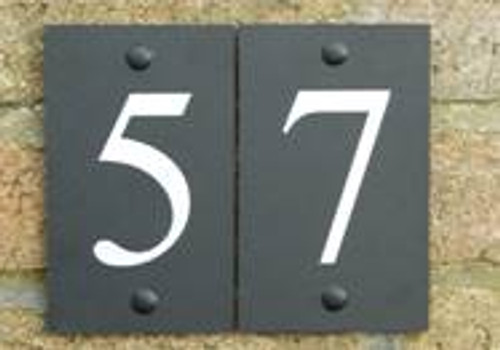 Eco House numbers -  printed plaque