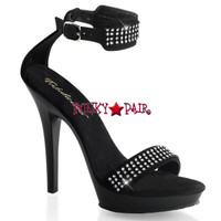 Lip-172, Rhinestone Embellished Ankle Cuff High Heel